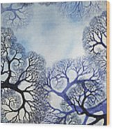 Winter Lace Wood Print by Helen Klebesadel