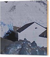 Winter Life Austrian Mountain  Wood Print