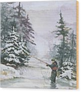 Winter Magic Wood Print by Elisabeta Hermann