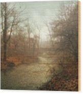 Winter Mist Wood Print