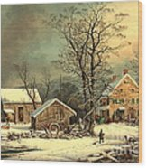 Winter Morning 1863 Wood Print