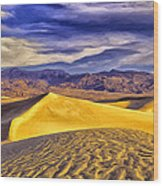 Winter Morning At Death Valley Wood Print