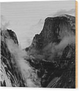 Winter Morning Half Dome And Tenaya Canyon Wood Print