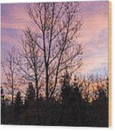 Winter Morning Sky Wood Print