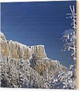 Winter Mountain Landscape Wood Print