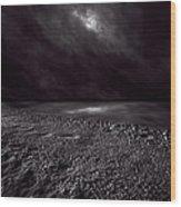 Winter Nightscape Wood Print by Bob Orsillo