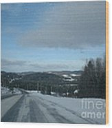 Winter Norhtern Maine Wood Print