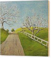 Winter Oaks Wood Print