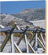 Winter On Horsetooth Mountain Wood Print