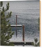 Winter On Lake Coeur D' Alene Wood Print