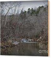 Winter On The Eno River At Fews Ford Wood Print