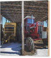 Winter On The Farm Wood Print by Eric Gendron