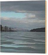Winter On The Lake Wood Print