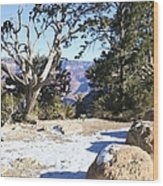 Winter On The South Rim Wood Print