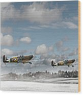 Winter Ops Spitfires Wood Print