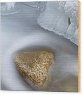 Winter Orangeville Creek Wood Print by Dean Pennala