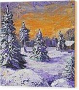 Winter Outlook Wood Print by Anastasiya Malakhova