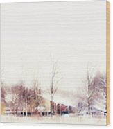 Winter Painting Vii. Aquarel By Nature Wood Print
