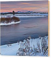 Winter Quiet And Colorful Wood Print