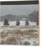 Winter Rain  Wood Print