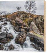 Winter Rapids V2 Wood Print