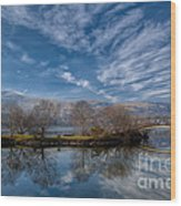 Winter Reflections Wood Print by Adrian Evans