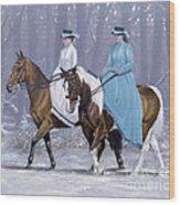 Winter Ride Wood Print by John Silver