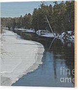 Winter River I Wood Print