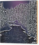 Winter River Oulanka National Park Lapland Finland  Wood Print