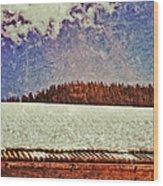 Winter Roofline Wood Print