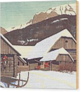 Winter Scene 1910 Wood Print
