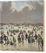 Winter Scene Circa 1859 Wood Print by Aged Pixel
