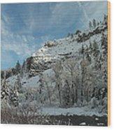 Winter Scene Wood Print by Jeff Swan