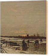 Winter Scene Wood Print