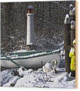 Winter Scene Michigan #1 Wood Print