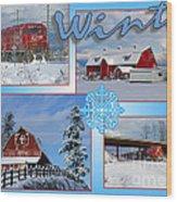 Winter Scenes  Wood Print
