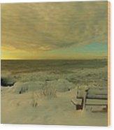 Winter Seascape Wood Print