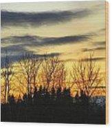 Winter Sky Wood Print