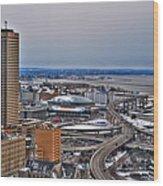 Winter Skyway Downtown Buffalo Ny Wood Print