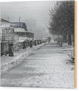 Winter Snow Storm II Wood Print