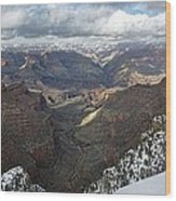 Winter Storm At The Grand Canyon Wood Print