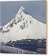 Winter Storm Over Mt. Washington Wood Print