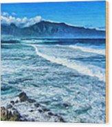 Winter Storm Surf At Ho'okipa Maui Wood Print