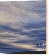 Winter Stormy Sky Wood Print