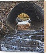 Winter Stream Media Wood Print