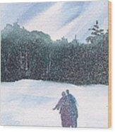 Winter Stroll Series Wood Print