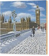 Winter Sun - Houses Of Parliament London Wood Print