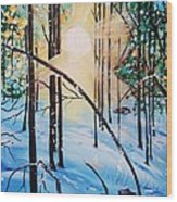 Winter Sun Wood Print