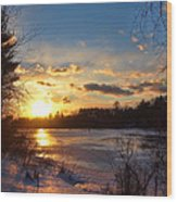 Winter Sundown Wood Print