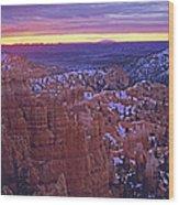 Winter Sunrise At Bryce Canyon Wood Print
